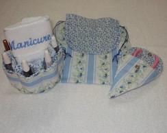 Kit manicure floral azul 2
