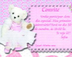 Convite ursa bailarina