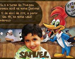 """Convite """"Pica-pau"""" 1"""