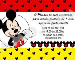Convite Mickey (Arquivo Digital)