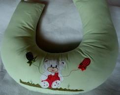 almofada amamenta��o em tecido fio tinto
