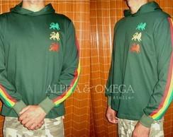 Camiseta Reggae Le�es MG LG Verde Musgo