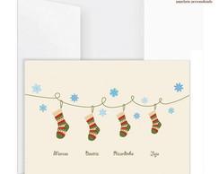 Cart�o Duplo Meias de Natal (5 UN)