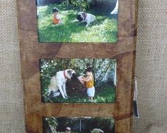 porta retrato ecol�gico - 3 fotos 10x15