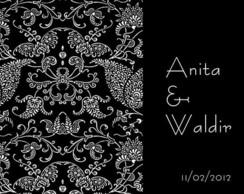 Convite de casamento Anita e Waldir