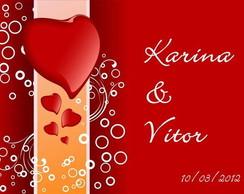 Convite de casamento Karina e Vitor