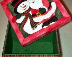 Papai Noel - Caixa em patch sem agulha