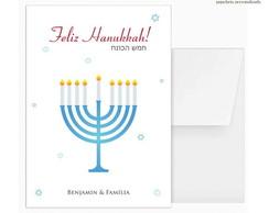 Cart�o Duplo Hanukkah (5 UN)