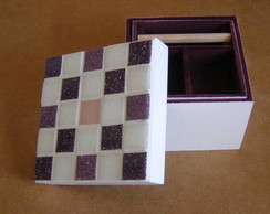 Caixa biju mosaico 11 x 11