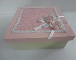 caixa porta treco rosa