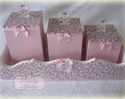Kit Higiene Rosa e Marrom