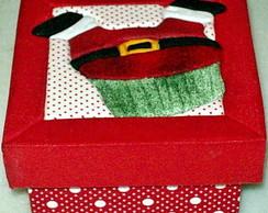 Caixa em Patchwork embutido - Papai Noel