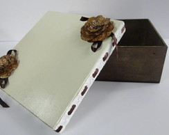 caixa porta treco com passa fita