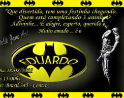 Convites do Batman