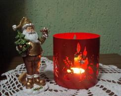 Porta velas natalino