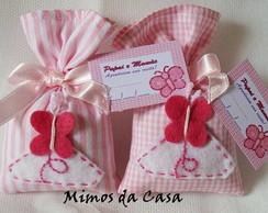 Lembrancinha Sach� Borboleta Rosa