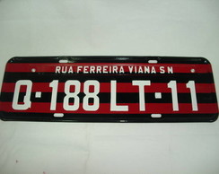 PLACA DE ENDERE�O... DO FLAMENGO