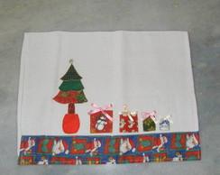 Pano de Prato Natal - patchwork