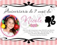 Convite Personalizado Barbie