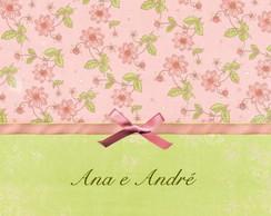 Convite de casamento Ana e Andr�