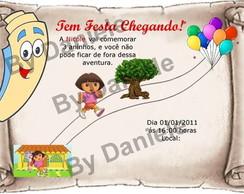 Convite Mapa - Dora Aventureira