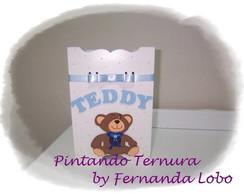 Kit Higiene em MDF - Tema Ursinho Teddy