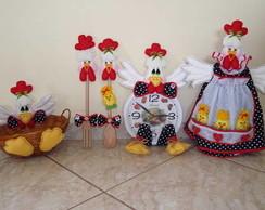 Kit de cozinha c/ galinha d'angola (01A)