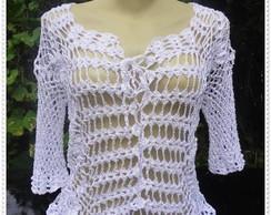 Blusa Branca de Croch�