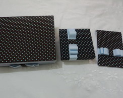 presente natal,caixa mdf tecido