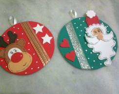 Papai Noel e Rena para arvore