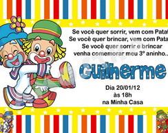 Convite Circo Patati e Patat� (Digital)