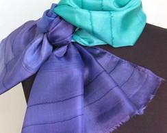 """Echarpe de seda""""BLUE"""""""