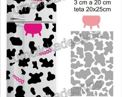 adesivo geladeira Manchas de vaca 08