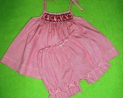 Vestido de Beb� 'Mini Joaninhas'