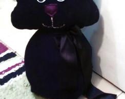 Peso para porta Gato Preto Gordo