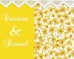Convite de casamento Cristina e Daniel