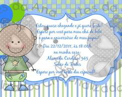 Ch� de Beb� Azul e Verde