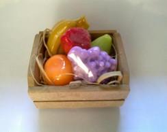 Caixote com Frutas de Sabonete