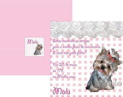 Convite de Anivers�rio de Cachorro