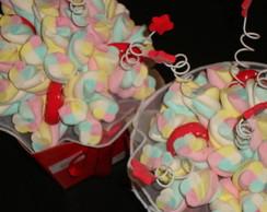Buqu� de marshmallows vermelho