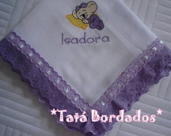 Fralda Lilica Ripilica - Branco/Lil�s
