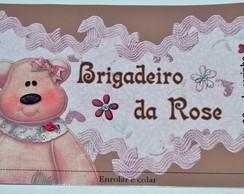 brigadeiro ursinha marrom e rosa