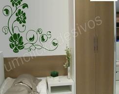Adesivo de parede floral 1 - 55x65cm