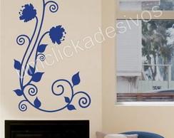 Adesivo de parede floral 4 - 30x55cm