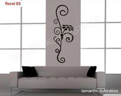Adesivo de parede floral 5 - 100cm