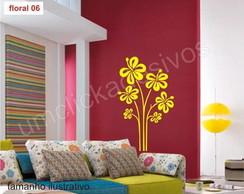 Adesivo de parede floral 6 - 100cm