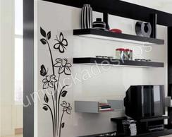 Adesivo de parede floral 7 - 100cm