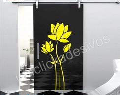 Adesivo de parede floral 8 - 100cm