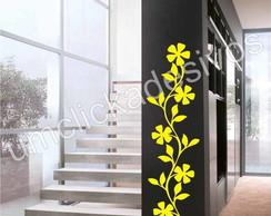 Adesivo de parede floral 9 - 100cm