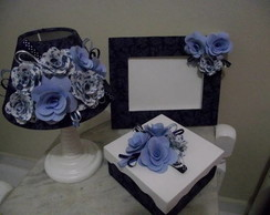 Conjunto Blue Flowers
